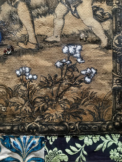 tapestry, frame and funghi