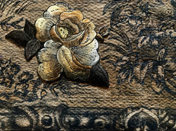 tapestry, flower and frame