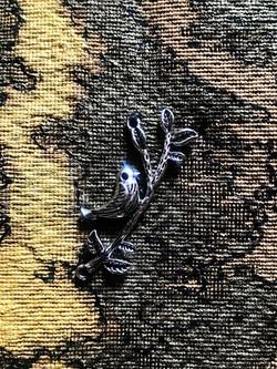 tapestry, bird on a branch