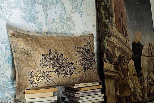 Flower Golden Cushion