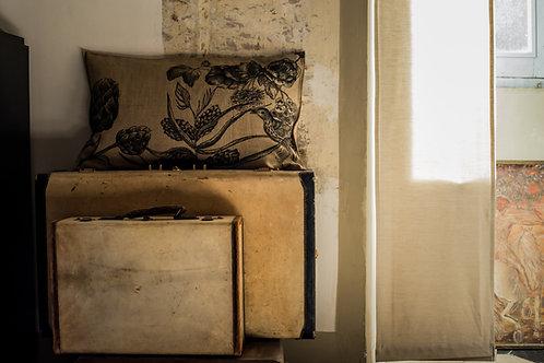 Artichoke and Bird Cushion