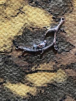 tapestry: bird on a branch