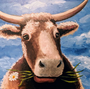 Whimsical Cow