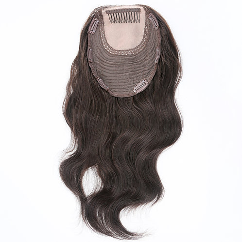 Natural Brown Hair Topper