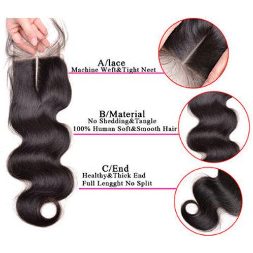 Natural Wavy Lace Closure (100% Remy Human Hair)