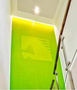 Treppenaufgang bei der LVM Versicherung