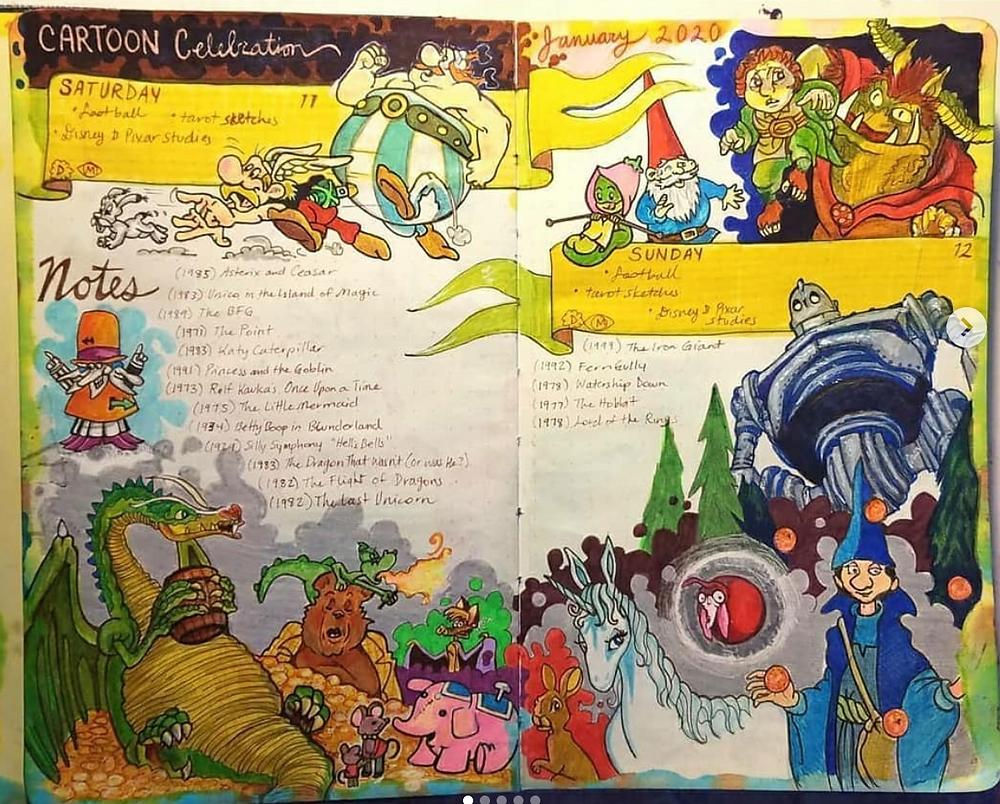 cartoon studies, sketchbook, @sjwinklerart, Art Journal