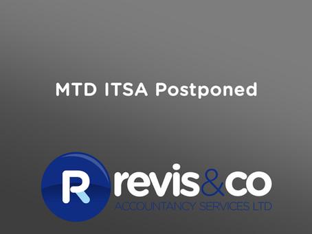MTD ITSA postponed