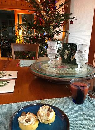 Christmas with scallops on polentaIMG-64