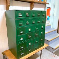 Green Metal Drawer Unit
