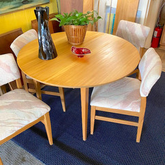 Refinished Blonde Kitchen Table w/ 4 Chairs
