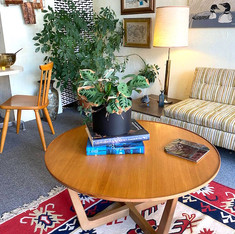Refinished Ed Wormley Drexel Circular Coffee Table