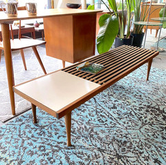 Refinished MCM Slatted Coffee Table