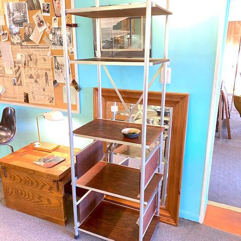 Rustic Metal and Wood Shelf Unit