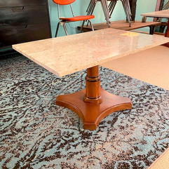 (2) Marble Top Side Table