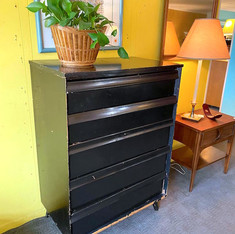 Rustic Black Chest of Drawers