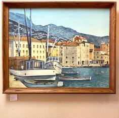 Harbor Scene Original Art