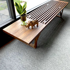 Refinished Slatted Long Coffee Table