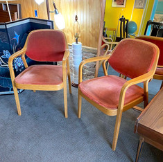 Pair of Knoll Arm Chairs AS IS