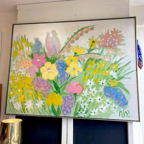 Large Retro Flower Art