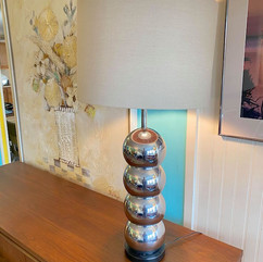 Chrome Stacked Ball Lamp
