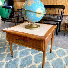 Marble Inlay MCM Side Table
