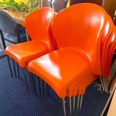Orange Italia Chair