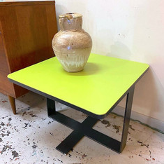 Funky Square Green Top Side Table