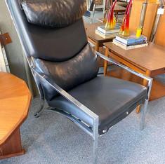 Black Chrome Lounge Chair