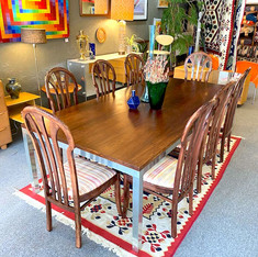 Rosewood Dining Table w/ 8 Custom Made Chairs
