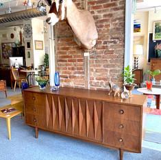 American Of Martinsville Sharp Long Dresser/ Credenza