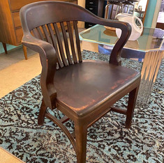 (4) Rustic Courtroom Chair
