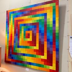 Large Abstract Rainbow Art