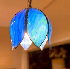 Antique Glass Hanging Light