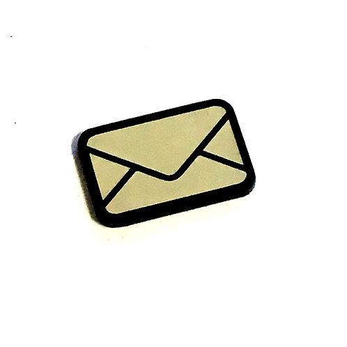 8 Piece. Envelope Cabochons-Acrylic Laser Cut Shapes