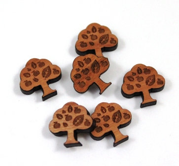Laser Cut Supplies-8 Pieces.Apple Tree Charms-Acrylic.Wood Laser Cut Shapes