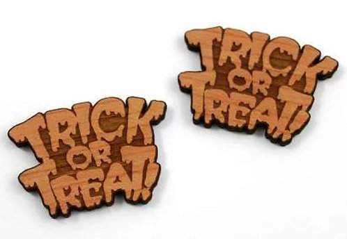 Laser Cut Supplies-1 Piece. Trick or Treat Charms-Acrylic. Wood Laser Cut Shape