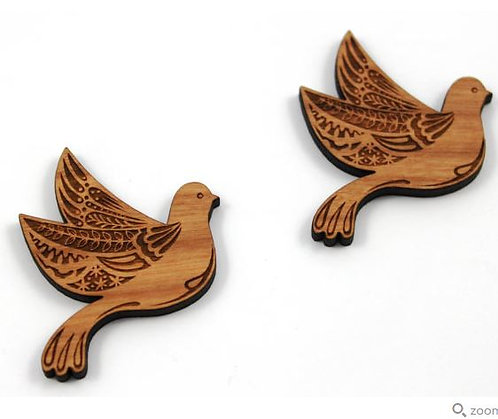 Laser Cut Supplies-1 Piece. Bird Charms-Acrylic.Wood Laser Cut Shape
