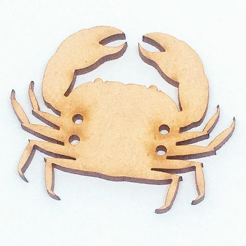Lasercut Craft Wood –1 Piece.Crab 50mm Wide. Scrapbook. Wood Craft Shape