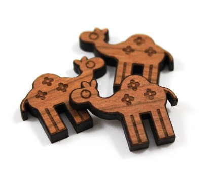 Laser Cut Supplies-8 Pieces. Camel Charms-Acrylic.Wood Laser Cut Shapes