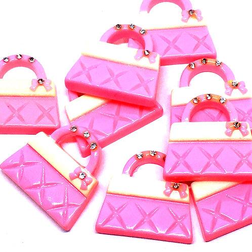 1 Piece. Little Girls Handbag Resin Cabochon Flatback