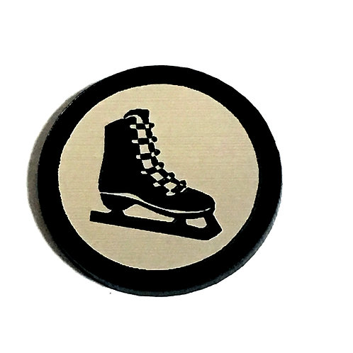 8 Piece. Ice Skate Mini Cabochons-Acrylic Laser Cut Shapes