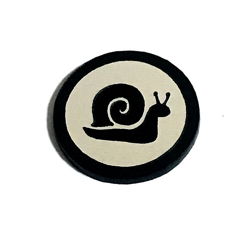 8 Piece. Snail Mini Cabochons-Acrylic Laser Cut Shapes