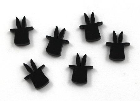 Laser Cut Supplies-8 Pieces. Magic Rabbit Charms-Acrylic.Wood Laser Cut Shapes