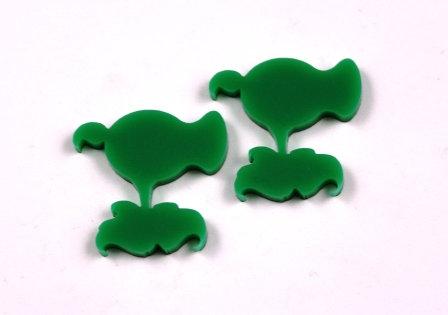 Laser Cut Supplies-1 Piece. Pea Shooter Charms-Acrylic.Wood Laser Cut Shape