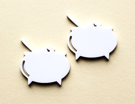 Laser Cut Supplies-1 Piece. Cauldron Charms-Acrylic.Wood Laser Cut Shape
