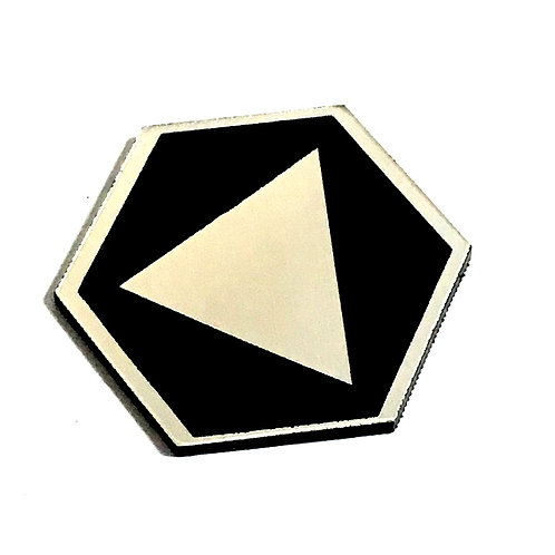8 Piece. Triangle Pentagon Mini Cabochons-Acrylic Laser Cut Shapes