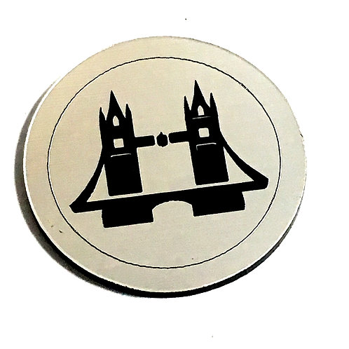 1 Piece. London Bridge Cabochon -Acrylic Laser Cut Shape
