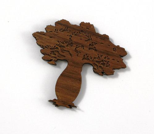Laser Cut Supplies-1 Piece. Boab Tree Charms-Acrylic. Wood Laser Cut Shape