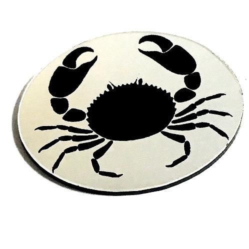 1 Piece. Mud Crab Cabochon -Acrylic Laser Cut Shape